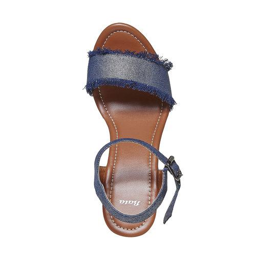 Sandali da donna con tacco naturale bata, blu, 769-9624 - 19