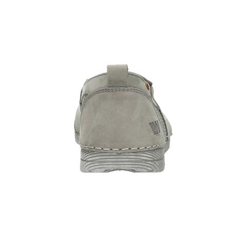 Slip-on da donna in pelle weinbrenner, grigio, 513-2263 - 17