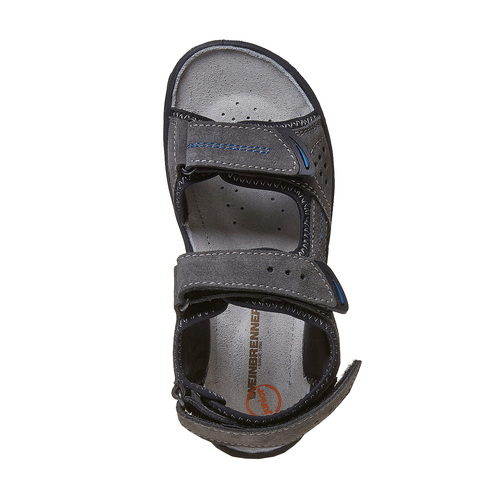 Sandali in pelle da bambino weinbrenner-junior, grigio, 463-2101 - 19