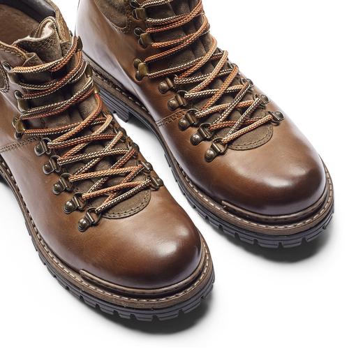 Scarpe in pelle con lacci originali bata, marrone, 894-4180 - 15