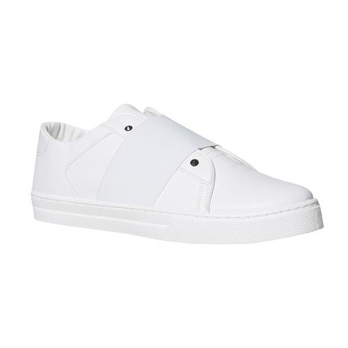 Sneakers bianche con borchie a punta north-star, bianco, 831-1137 - 13
