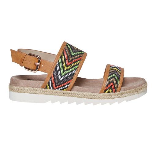 Sandali da donna con motivo bata, marrone, 569-4438 - 15