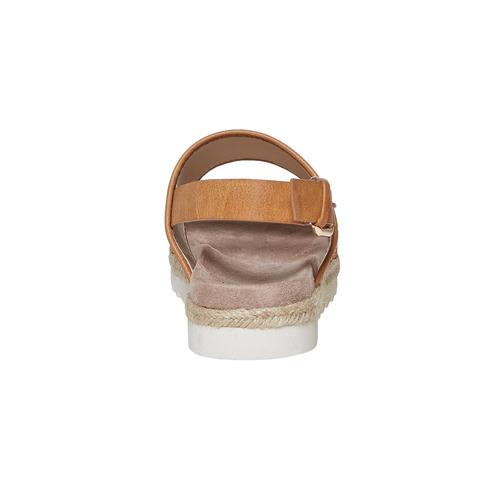 Sandali da donna con motivo bata, marrone, 569-4438 - 17
