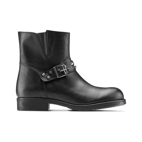 Ankle Boots da donna con borchie bata, nero, 591-6163 - 26