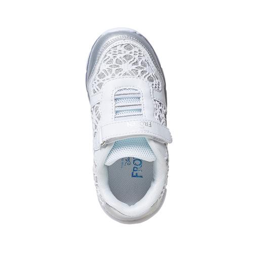 Sneakers da bambina con pizzo e stampa, bianco, 229-1188 - 19