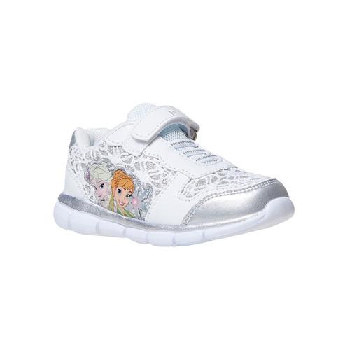 Sneakers da bambina con pizzo e stampa, bianco, 229-1188 - 13