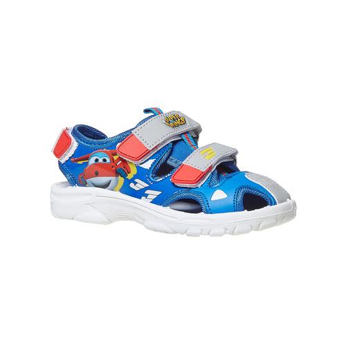 Sandali da bambino con stampa, blu, 261-9195 - 13