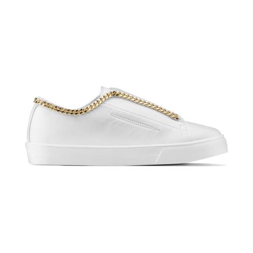 Slip on con dettaglio catena gold north-star, bianco, 541-1129 - 26
