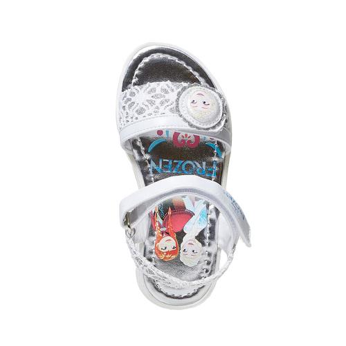 Sandali argentati da bambina, bianco, 261-1196 - 19