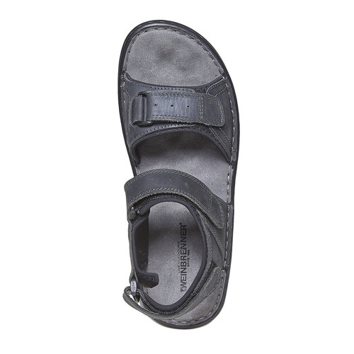 Sandali in pelle da uomo weinbrenner, nero, 866-6269 - 19