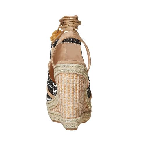 Sandali da donna con plateau e lacci bata, grigio, 769-2574 - 17