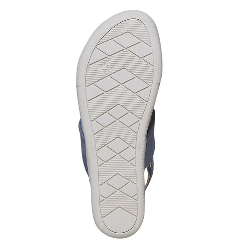 Sandali blu con suola appariscente bata, blu, 561-9303 - 26