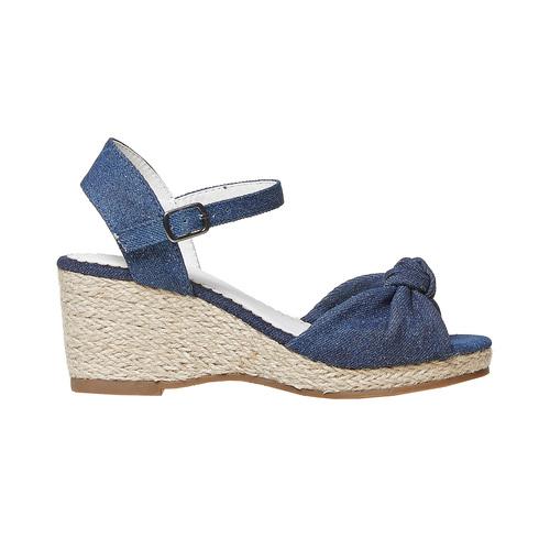 Sandali da bambina con plateau basso mini-b, blu, 369-9219 - 15