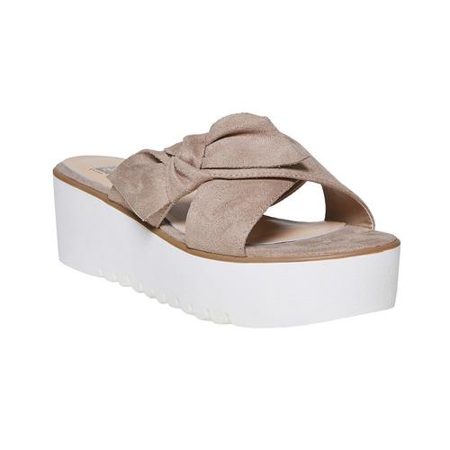 Slip-on da donna con flatform bata, grigio, 669-2252 - 13