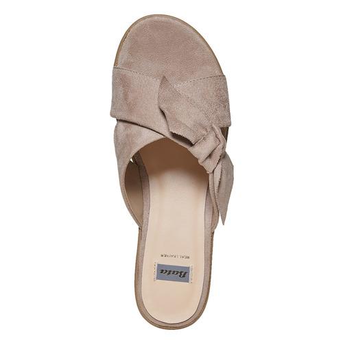 Slip-on da donna con flatform bata, beige, 669-2252 - 19