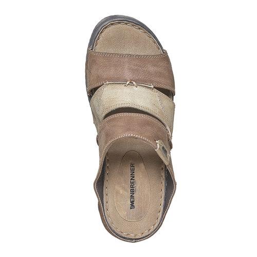 Slip-on in pelle da uomo weinbrenner, marrone, 866-4277 - 19