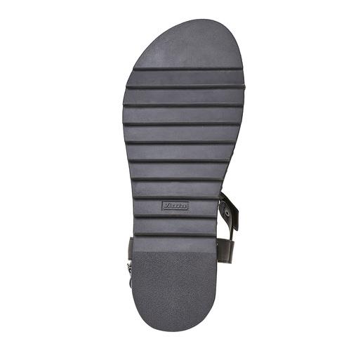 Sandali neri con suola massiccia bata, nero, 561-6503 - 26