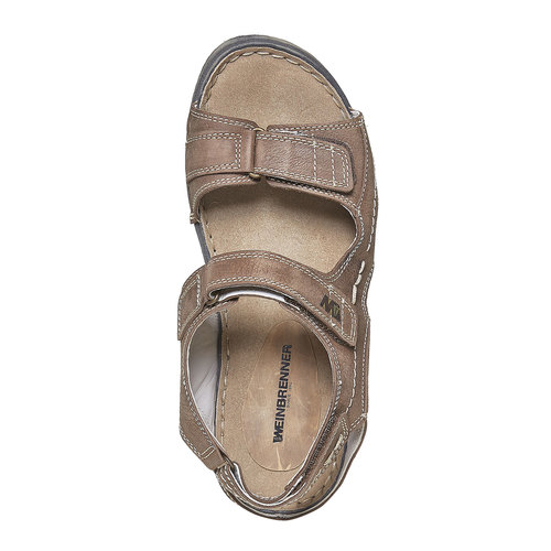 Sandali in pelle da uomo weinbrenner, marrone, 866-4278 - 19