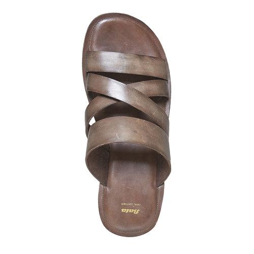 Slip-on in pelle da uomo bata, marrone, 864-4261 - 19