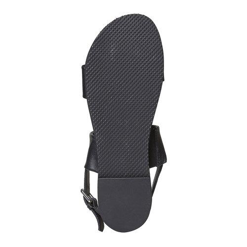 Sandali da donna in pelle bata, nero, 564-6446 - 26
