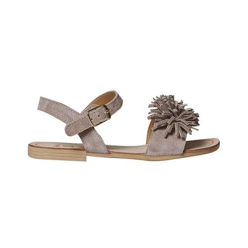 Sandali in pelle da bambina mini-b, beige, 363-3224 - 15