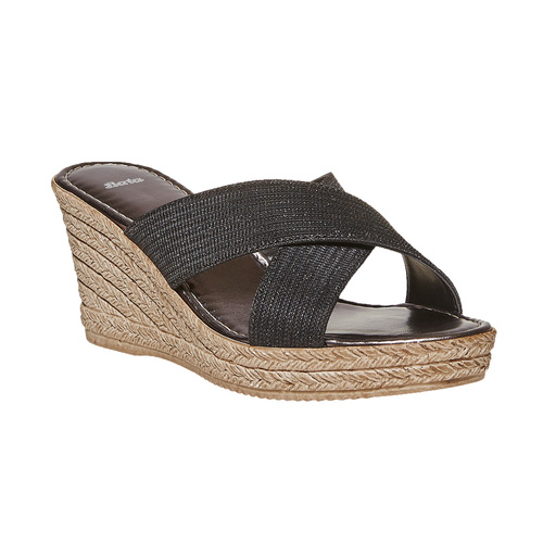 Slip-on da donna con plateau bata, nero, 779-6105 - 13