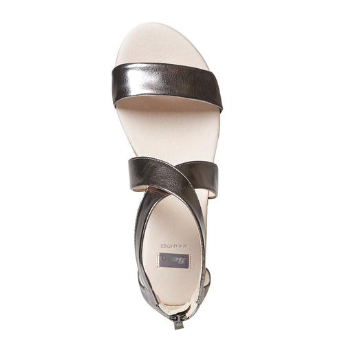 Sandali da donna con zeppa bassa bata, argento, 561-1505 - 19