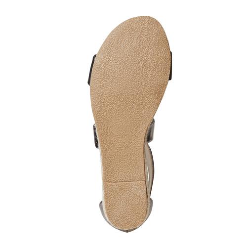 Sandali da donna con zeppa bassa bata, argento, 561-1505 - 26