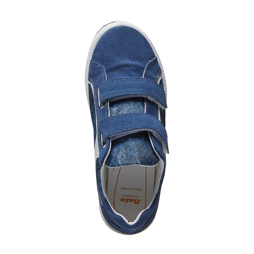 Sneakers da bambino con chiusure a velcro flexible, blu, 311-9244 - 19