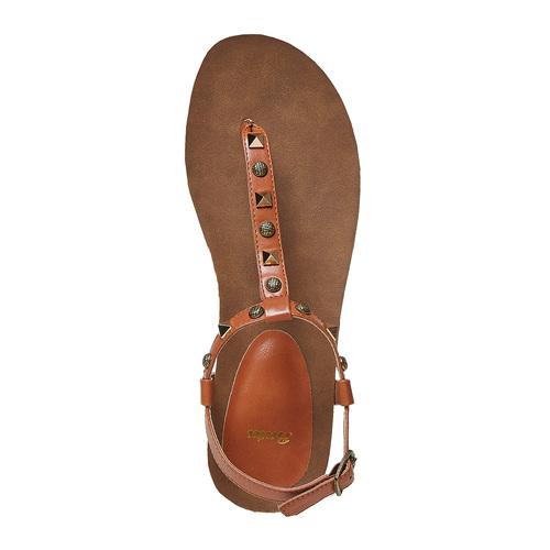 Sandali da donna con suola in sughero bata, marrone, 561-3292 - 19
