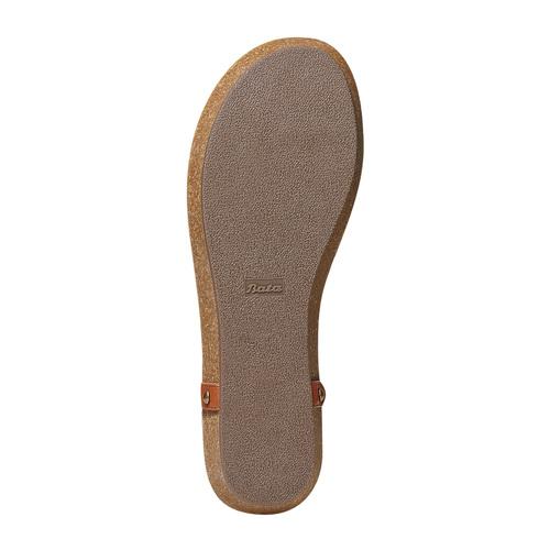 Sandali da donna con suola in sughero bata, marrone, 561-3292 - 26