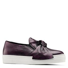 Sneakers viola senza lacci con fiocco north-star, viola, 514-5265 - 13