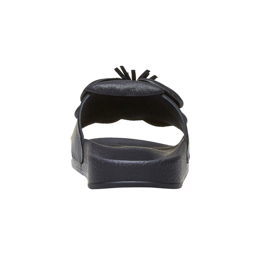 Ciabatte slide nere bata, nero, 561-6113 - 16