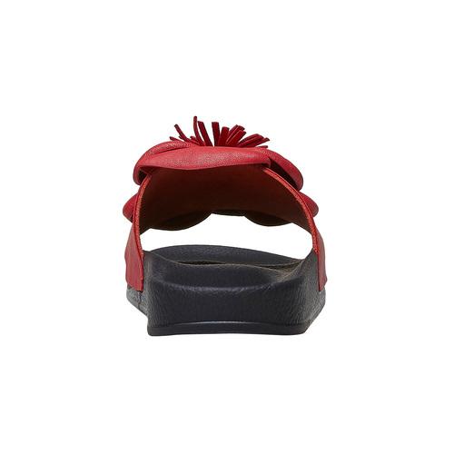 Ciabatte slide  bata, rosso, 561-5113 - 16