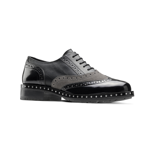 Scarpe stringate bicolore bata, nero, 521-6673 - 13