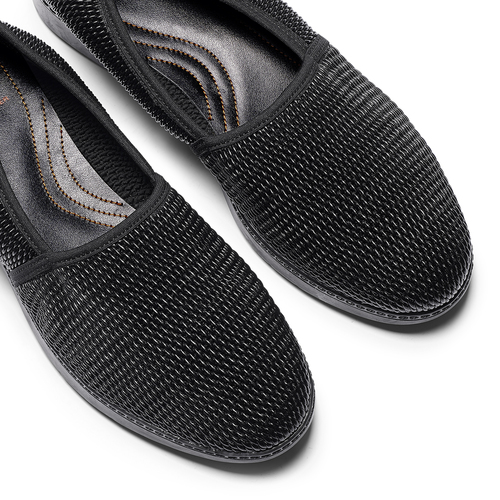 Mocassini slip-on flexible, nero, 511-6125 - 19