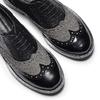 Scarpe stringate bicolore bata, nero, 521-6673 - 19
