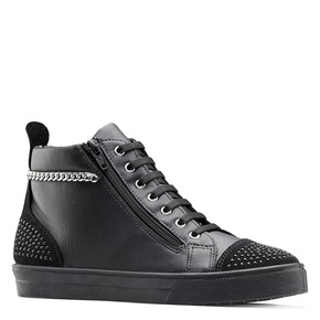 Sneakers alte con catena north-star, nero, 541-6203 - 13