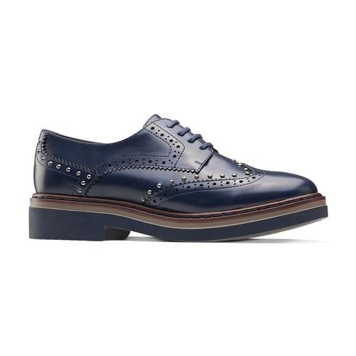 Scarpe basse stringate blu bata, blu, 521-9657 - 13