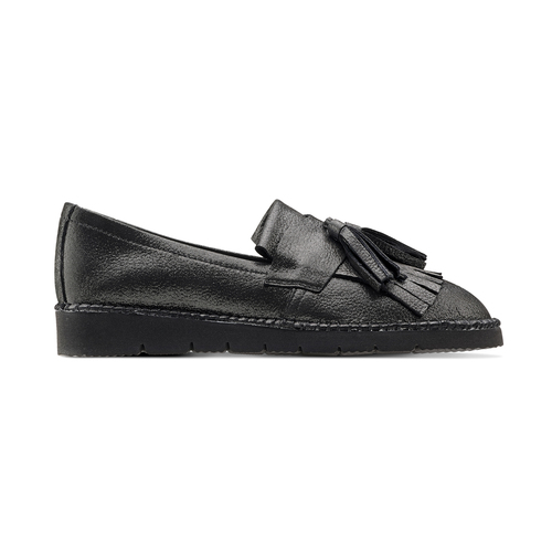 Loafers in pelle con nappine bata, grigio, 514-2416 - 26