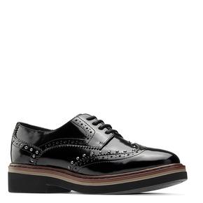 Scarpe stringate con borchie bata, nero, 521-6657 - 13