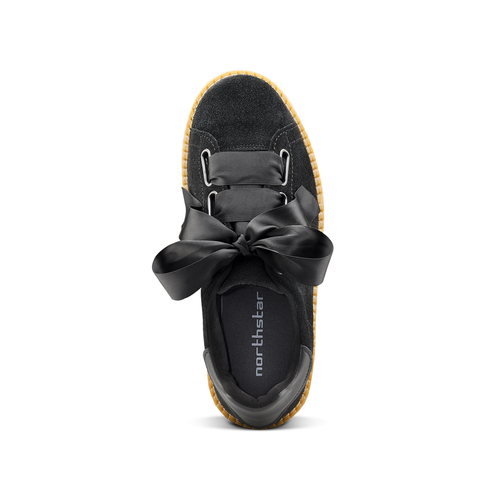 Sneakers nere con fiocco north-star, nero, 523-6484 - 15