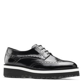 Scarpe platform stringate bata, nero, 521-6656 - 13