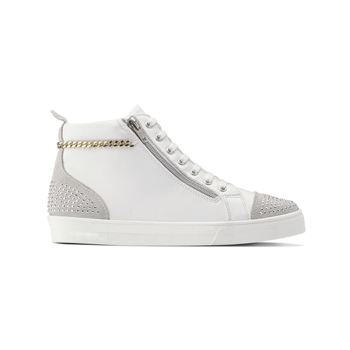 Sneakers alte con strass north-star, bianco, 541-1203 - 26