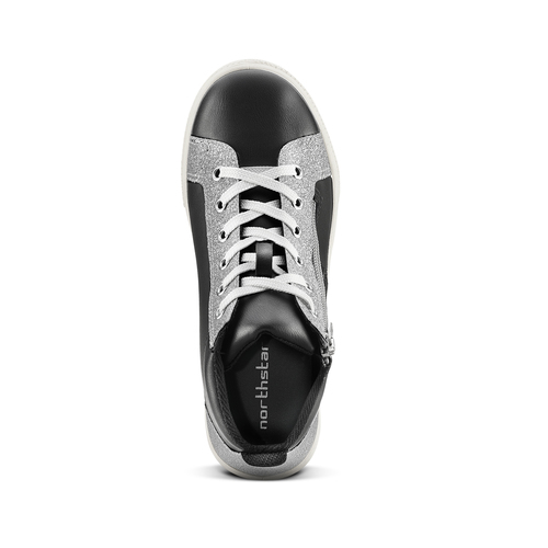Sneakers alte con stelle north-star, nero, 324-6278 - 15