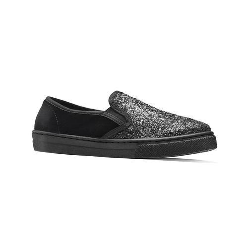 Sneakers glitter, nero, 329-6312 - 13