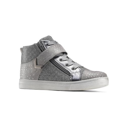 Sneakers alte con zip mini-b, grigio, 329-2303 - 13