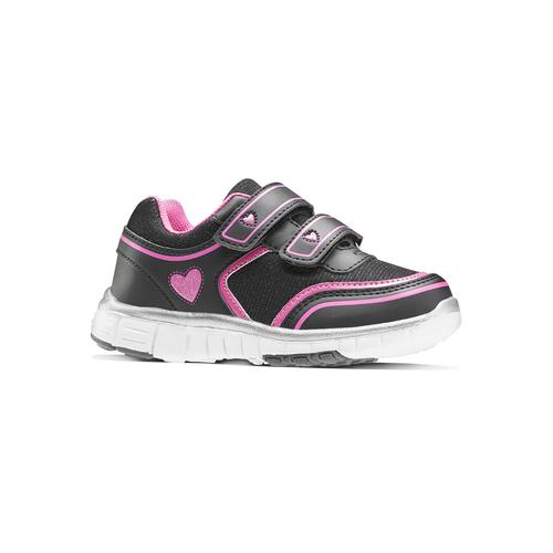 Sneakers da bambina con glitter, nero, 229-6175 - 13