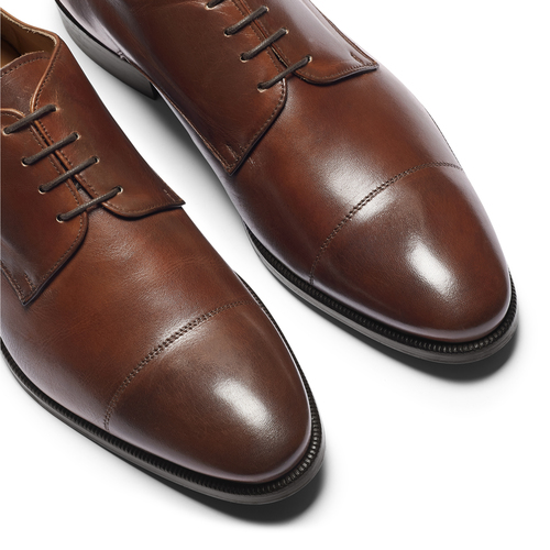 Derby da uomo in pelle bata-the-shoemaker, marrone, 824-4184 - 19