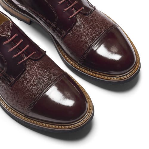 Scarpe stringate bordeaux bata-the-shoemaker, rosso, 824-5187 - 19